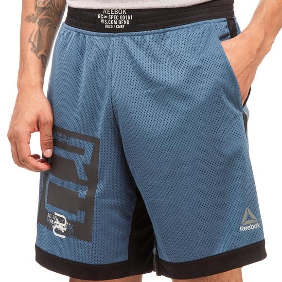 Blue Reebok Train Like A Fighter Boxing Shorts
